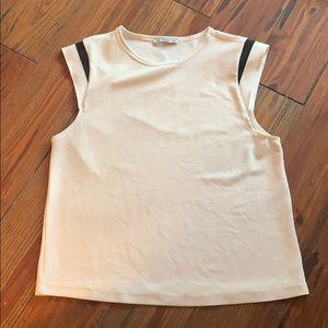 Zara white blouse size large